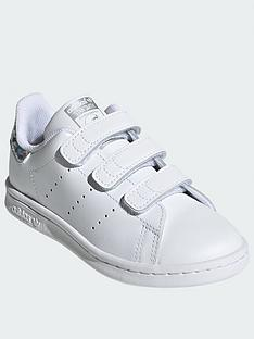 adidas-originals-stan-smith-childrensnbsptrainers-white-sparkle