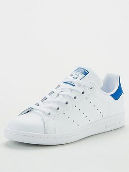 adidas Originals Adidas Originals Stan Smith Junior Trainers - White/Blue Picture