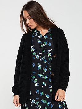 v-by-very-button-through-shaped-hem-cardigan-black