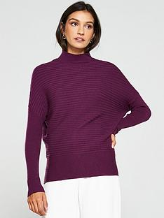 v-by-very-turtleneck-horizontal-rib-jumper-grape