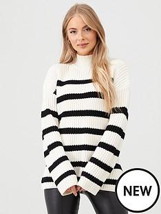 v-by-very-turtleneck-split-side-seam-jumper-stripe