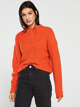 v-by-very-engineered-rib-detail-crew-neck-jumper-orange