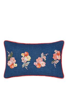 Joules Joules Hollyhock Meadow 100% Cotton Cushion Picture
