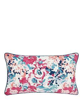 Joules Joules Cottage Garden Border Stripe 100% Cotton Cushion Picture