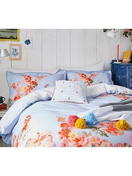 Joules Joules Hollyhock Floral 100% Cotton Percale Duvet Cover Picture