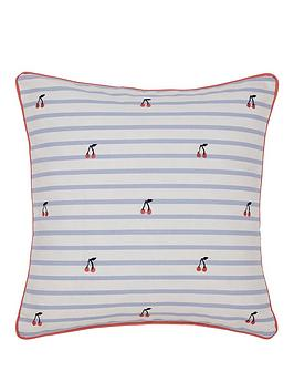Joules Joules Hollyhock Floral Cushion Picture
