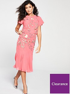 frock-and-frill-gemmanbsptwo-tiered-floral-embroidered-dress-coral