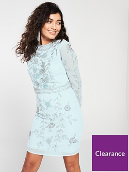 frock-and-frill-embellished-long-sleeve-shift-dress-ice-blue