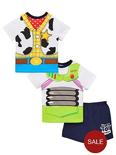 toy-story-boys-buzz-and-woody-reversible-back-amp-front-pyjamas-multi