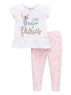 tinkerbell-girls-short-sleeve-pyjamas-white