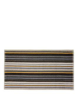 Product photograph showing Christy Barcode Stripe Towel Range - Bath Towel