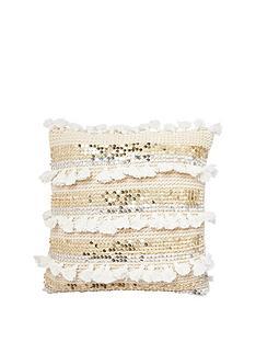 river-island-knitted-sequin-tassle-cushion