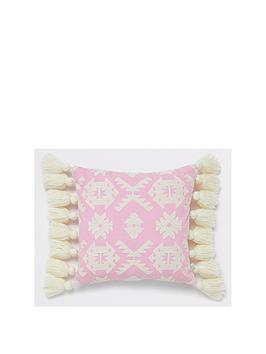 river-island-geo-embroidered-cushion-pink