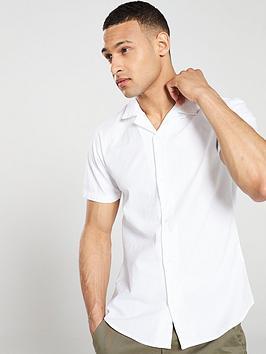 v-by-very-linen-look-cuban-collar-shirt-white