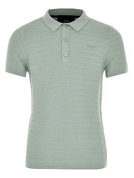river-island-boys-textured-polo-shirt-green