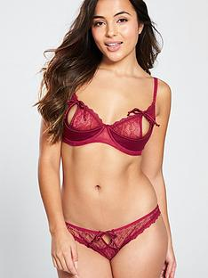 646f612019 Pour Moi Contradiction All Tied Up Underwired Bra - Red