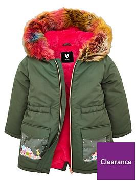 v-by-very-girlsnbspmulti-faux-fur-sequin-pocket-coat-khaki