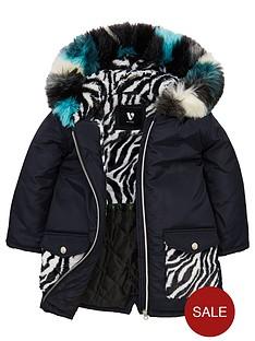 mini-v-by-very-girls-zebra-pocket-faux-fur-parka-coat-black