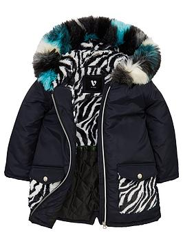 mini-v-by-very-girls-zebra-pocket-faux-fur-parka-coat-black