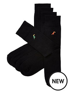 river-island-toucan-embroidery-5pp-socks