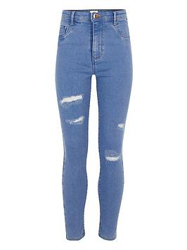 river-island-girls-blue-molly-ripped-detail-jeggings