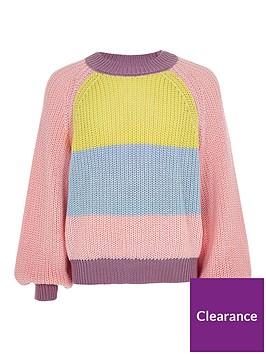 river-island-girls-colour-block-knitted-jumper