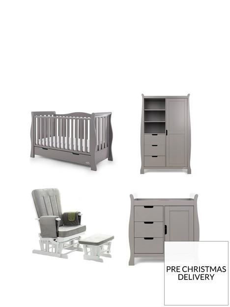 obaby-stamford-luxenbspsleigh-3-piece-nursery-furniturenbspset-amp-deluxe-glider-chair