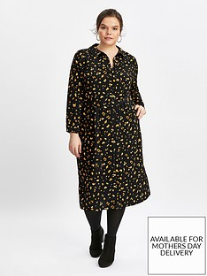 evans-animal-print-shirt-dress