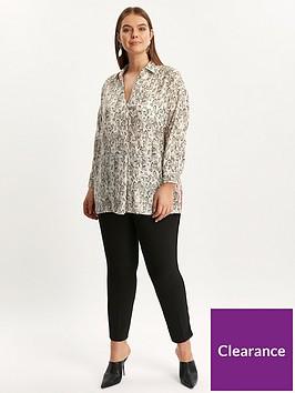 evans-snake-print-contrast-stripe-shirt