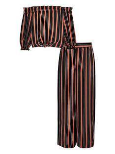 river-island-girls-stripe-bardot-top-outfit-red