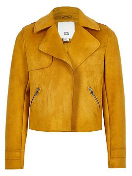 river-island-girls-yellow-faux-suede-crop-jacket