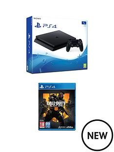 playstation-4-ps4-1tb-black-slim-console-with-call-of-duty-black-ops-4-with-optional-extras
