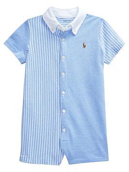 1b177c6f9 Ralph Lauren Baby Boys Short Sleeve Oxford Romper | littlewoods.com