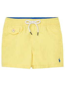 c7a482d79 Ralph Lauren Baby Boys Classic Swim Shorts - Yellow | littlewoods.com
