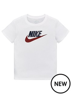 959436df Nike Sportswear Girls Futura T-Shirt - White/Blue/Red