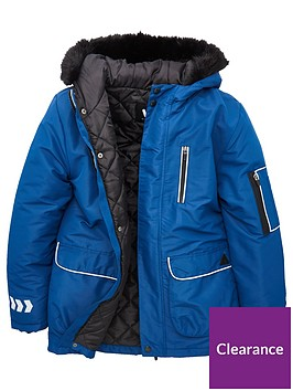 v-by-very-boys-reflectivenbsptrim-amp-zip-detail-faux-fur-hooded-parka-blue