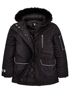 v-by-very-boys-reflectivenbsptrim-amp-zip-detail-faux-fur-hooded-parka-black