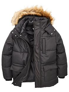 v-by-very-boys-double-zip-faux-fur-hooded-padded-coat-black