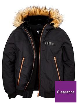 v-by-very-boys-faux-fur-trim-hooded-bomber-jacket-black