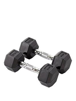 york-rubber-hex-dumbbell-pair-2-x-5kg