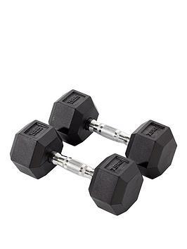 york-rubber-hex-dumbbell-pair-2-x-75kg