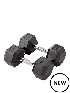 york-rubber-hex-dumbbell-pair-2-x-10kg