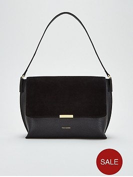 ted-baker-louissanbspsuede-bar-detail-shoulder-bag-black