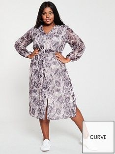 v-by-very-curve-button-front-midaxi-dress--nbspsnake-print
