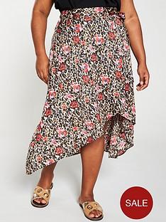 v-by-very-curve-wrap-midi-skirt-animal-print