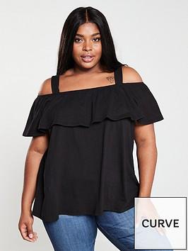 v-by-very-curve-bardot-cold-shoulder-jersey-top-black