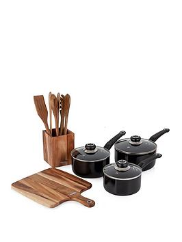 morphy-richards-black-5-piece-pan-and-kitchen-accessories-set