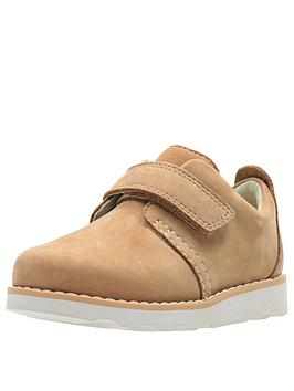 clarks toddler crown park leather shoes - tan