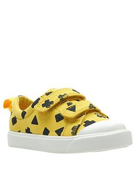 clarks toddler city flare lo canvas plimsoll