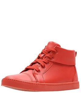 clarks city oasis high top trainers - orange